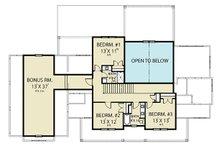 Farmhouse Floor Plan - Upper Floor Plan Plan #1070-55
