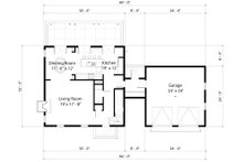Colonial Floor Plan - Main Floor Plan Plan #497-19