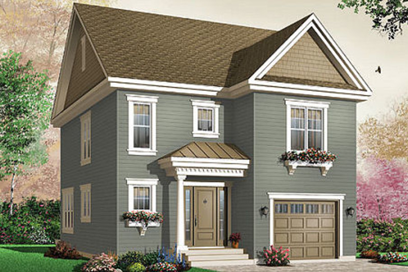 Traditional Exterior - Front Elevation Plan #23-671 - Houseplans.com