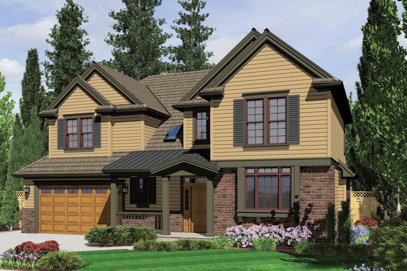 Country Exterior - Front Elevation Plan #48-635