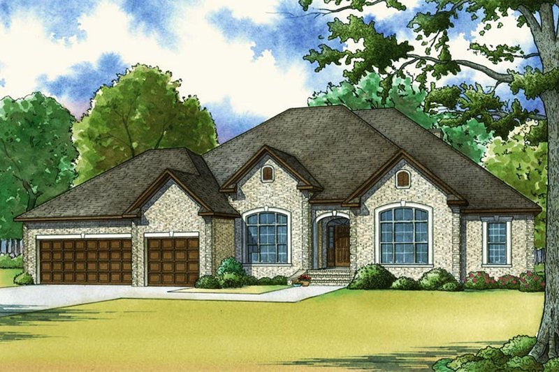 Traditional Style House Plan - 5 Beds 4 Baths 3264 Sq/Ft Plan #923-64 Exterior - Front Elevation