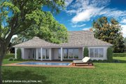 Ranch Style House Plan - 3 Beds 3.5 Baths 2900 Sq/Ft Plan #930-468 Exterior - Rear Elevation