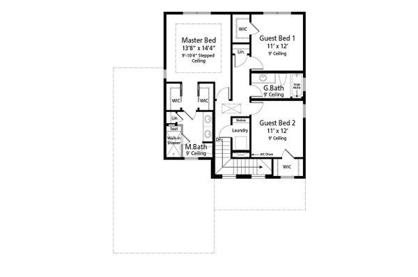 Beach Floor Plan - Upper Floor Plan Plan #938-108