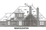 European Style House Plan - 4 Beds 3 Baths 2573 Sq/Ft Plan #310-667 Exterior - Rear Elevation