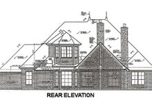 Dream House Plan - European Exterior - Rear Elevation Plan #310-667