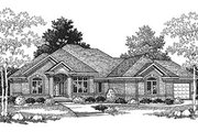 European Style House Plan - 3 Beds 2.5 Baths 2510 Sq/Ft Plan #70-403 Exterior - Front Elevation