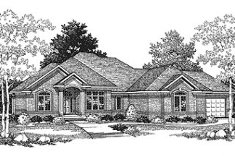European Exterior - Front Elevation Plan #70-403