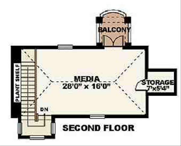 Mediterranean Floor Plan - Upper Floor Plan Plan #27-273