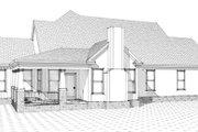 European Style House Plan - 4 Beds 3 Baths 2606 Sq/Ft Plan #63-269 Exterior - Rear Elevation