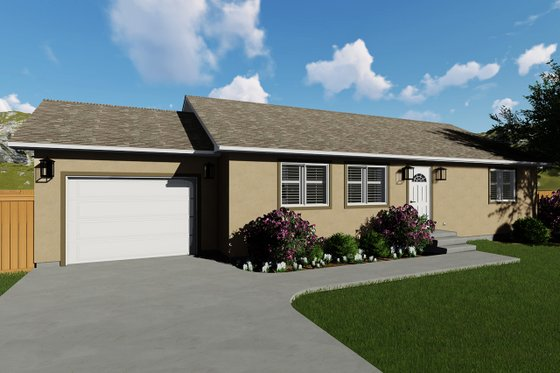Ranch Exterior - Front Elevation Plan #1060-3