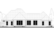 European Exterior - Rear Elevation Plan #430-130