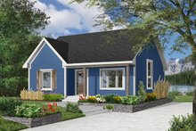 Dream House Plan - Cottage Exterior - Front Elevation Plan #23-609