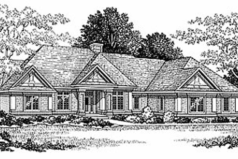 Traditional Style House Plan - 2 Beds 2.5 Baths 2121 Sq/Ft Plan #70-309 Photo