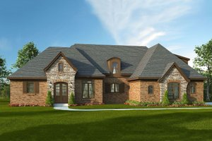 European Exterior - Front Elevation Plan #932-5