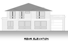 House Design - Contemporary Exterior - Rear Elevation Plan #1066-132