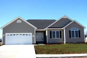 Country Style House Plan - 3 Beds 2 Baths 1555 Sq/Ft Plan #412-105 Exterior - Front Elevation