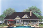 Ranch Style House Plan - 3 Beds 3 Baths 1792 Sq/Ft Plan #929-403 Exterior - Rear Elevation