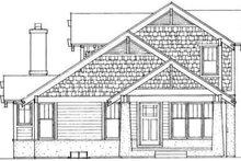 House Blueprint - Bungalow Exterior - Rear Elevation Plan #72-462