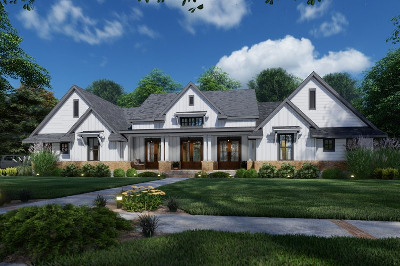Dream House Plan - Farmhouse Exterior - Front Elevation Plan #120-271