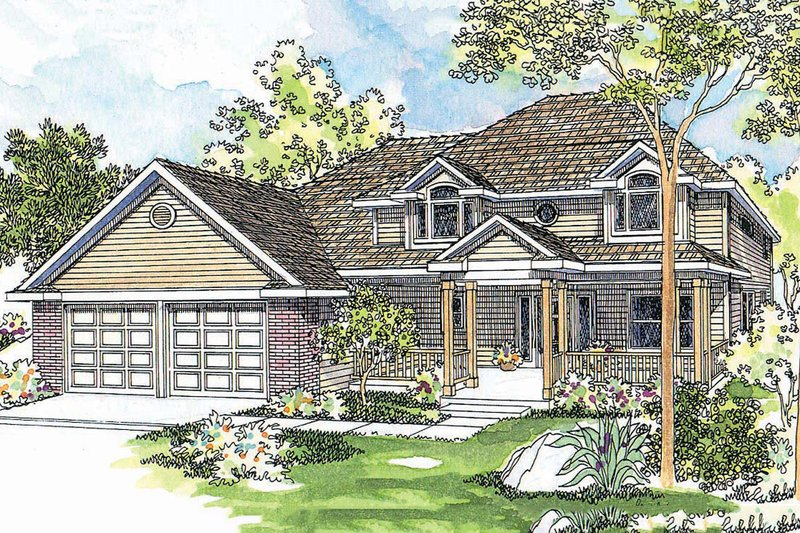 Country Exterior - Front Elevation Plan #124-446 - Houseplans.com