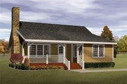 Cabin Style House Plan - 2 Beds 1 Baths 1143 Sq/Ft Plan #22-117 Exterior - Front Elevation