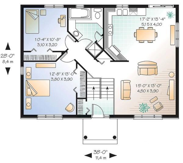 Traditional Floor Plan - Main Floor Plan Plan #23-2362