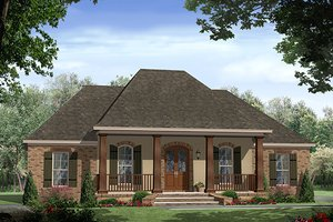 Country Exterior - Front Elevation Plan #21-399