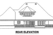 Country Style House Plan - 3 Beds 3.5 Baths 3257 Sq/Ft Plan #81-1456 Exterior - Rear Elevation
