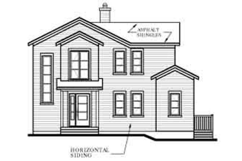 Modern Exterior - Rear Elevation Plan #23-423 - Houseplans.com