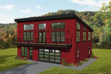 Home Plan - Modern Exterior - Front Elevation Plan #932-371