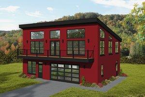 Modern Exterior - Front Elevation Plan #932-371