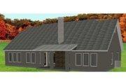 European Style House Plan - 3 Beds 3 Baths 2326 Sq/Ft Plan #408-103 Exterior - Rear Elevation