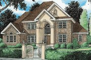 European Style House Plan - 4 Beds 3 Baths 2978 Sq/Ft Plan #20-286 Exterior - Front Elevation