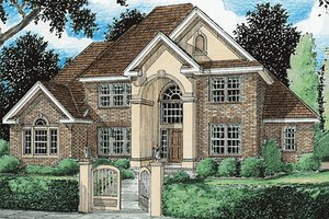 Dream House Plan - European Exterior - Front Elevation Plan #20-286