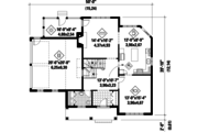 Country Style House Plan - 3 Beds 1 Baths 2273 Sq/Ft Plan #25-4764 Floor Plan - Main Floor Plan