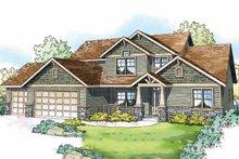 Craftsman Exterior - Front Elevation Plan #124-819