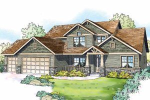 Craftsman Exterior - Front Elevation Plan #124-819