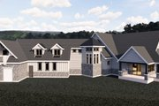 Craftsman Style House Plan - 6 Beds 6 Baths 7798 Sq/Ft Plan #920-98 Exterior - Front Elevation