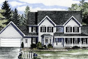 Country Exterior - Front Elevation Plan #316-119