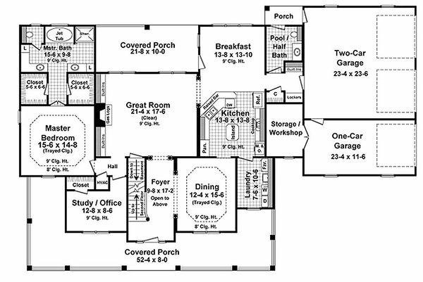 Country Floor Plan - Main Floor Plan #21-323