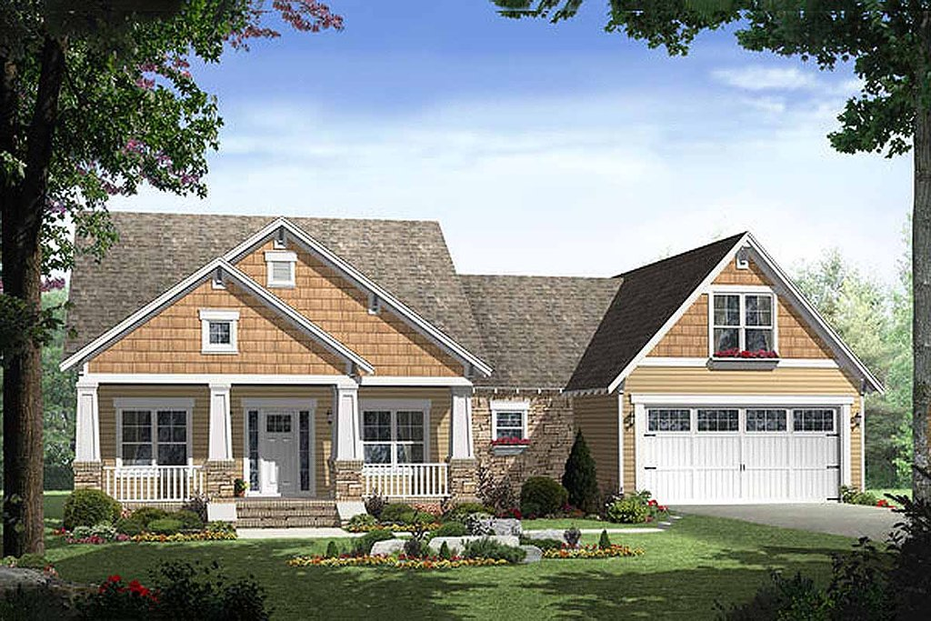 Craftsman Style House Plan 3 Beds 2 Baths 1800 Sq Ft Plan 21 247 Dreamhomesource Com