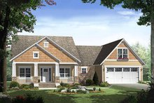 Architectural House Design - Craftsman style home, elevation
