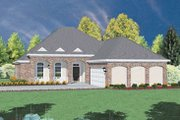 European Style House Plan - 4 Beds 2.5 Baths 2016 Sq/Ft Plan #36-189 Exterior - Front Elevation