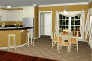 Country Style House Plan - 3 Beds 2 Baths 1500 Sq/Ft Plan #430-51 Interior - Kitchen