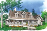 Country Style House Plan - 3 Beds 2.5 Baths 1991 Sq/Ft Plan #929-15 Exterior - Front Elevation