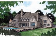 European Style House Plan - 4 Beds 4.5 Baths 6366 Sq/Ft Plan #453-49 Exterior - Other Elevation