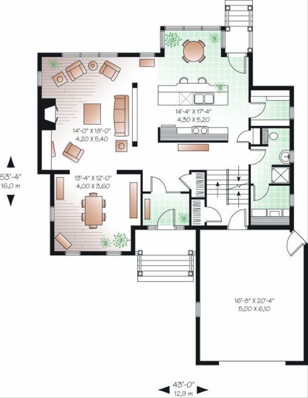 Farmhouse Floor Plan - Main Floor Plan Plan #23-722