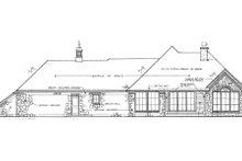 Dream House Plan - European Exterior - Rear Elevation Plan #310-646