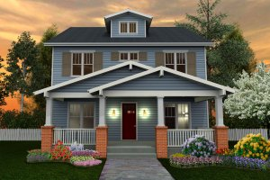 Craftsman Exterior - Front Elevation Plan #461-40