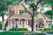 Country Style House Plan - 3 Beds 2.5 Baths 2283 Sq/Ft Plan #23-2010 Exterior - Front Elevation
